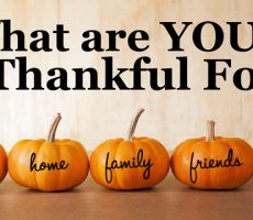 Thanksgiving! What are you thankful for?